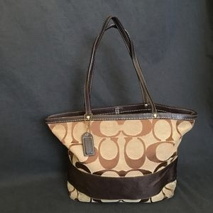 Authentic COACH Signature Monogram Stripe Bag